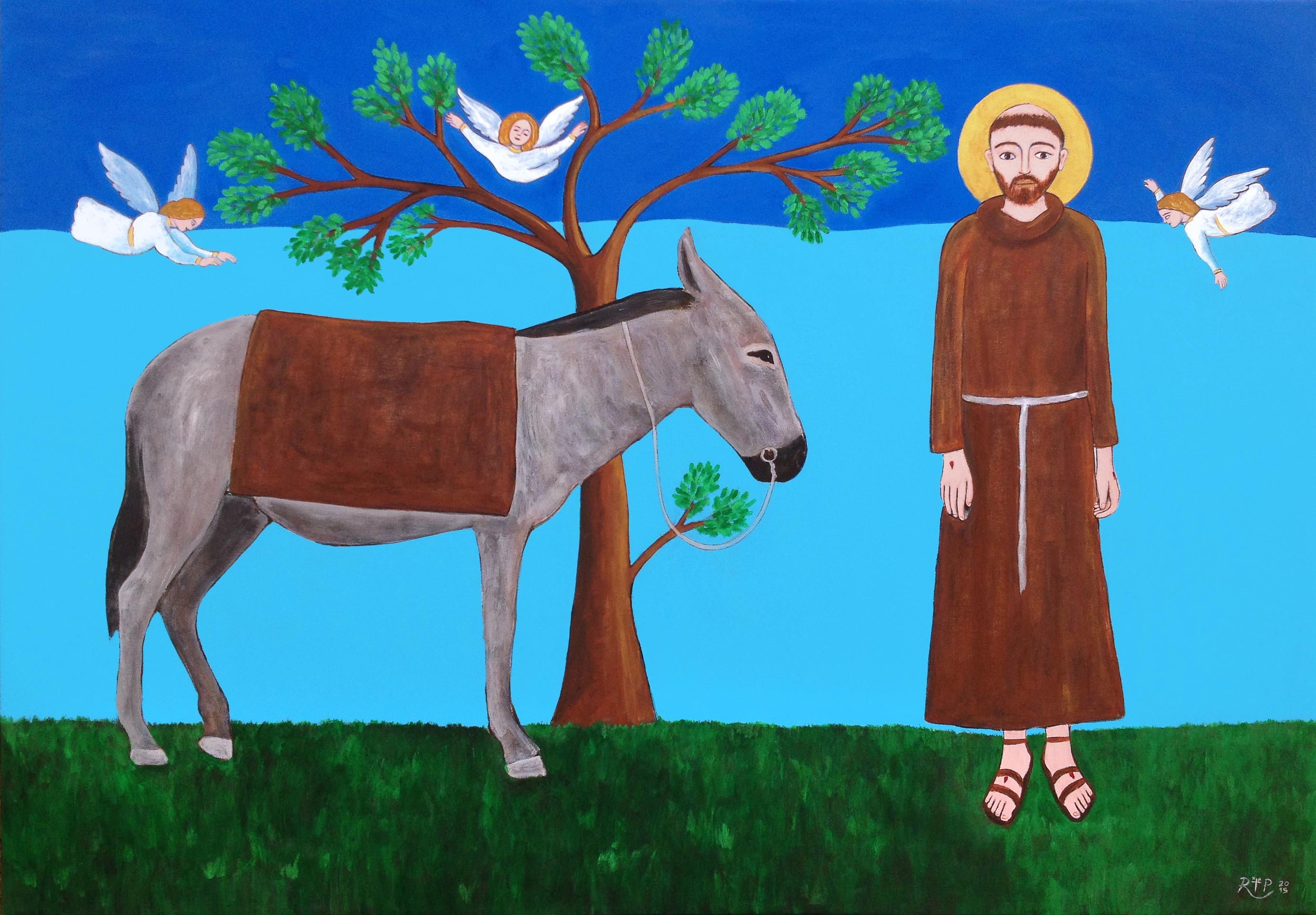 San Francesco e fratello asino
