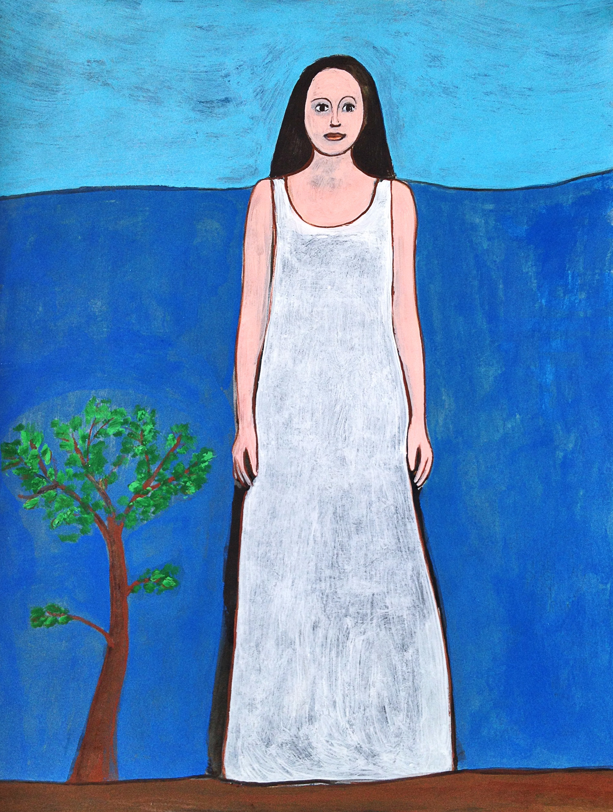 Donna con albero