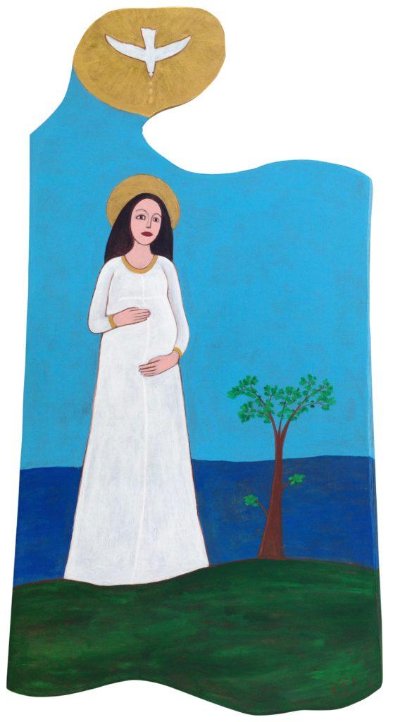 Dipinto su carta su tagliere di legno, per agriturismo Bon Tajer http://bontajer.it via Colderù 112/A, 32020 Lentiai, Italia
