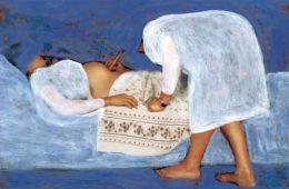 L'Angelo ascolta il ventre di Maria