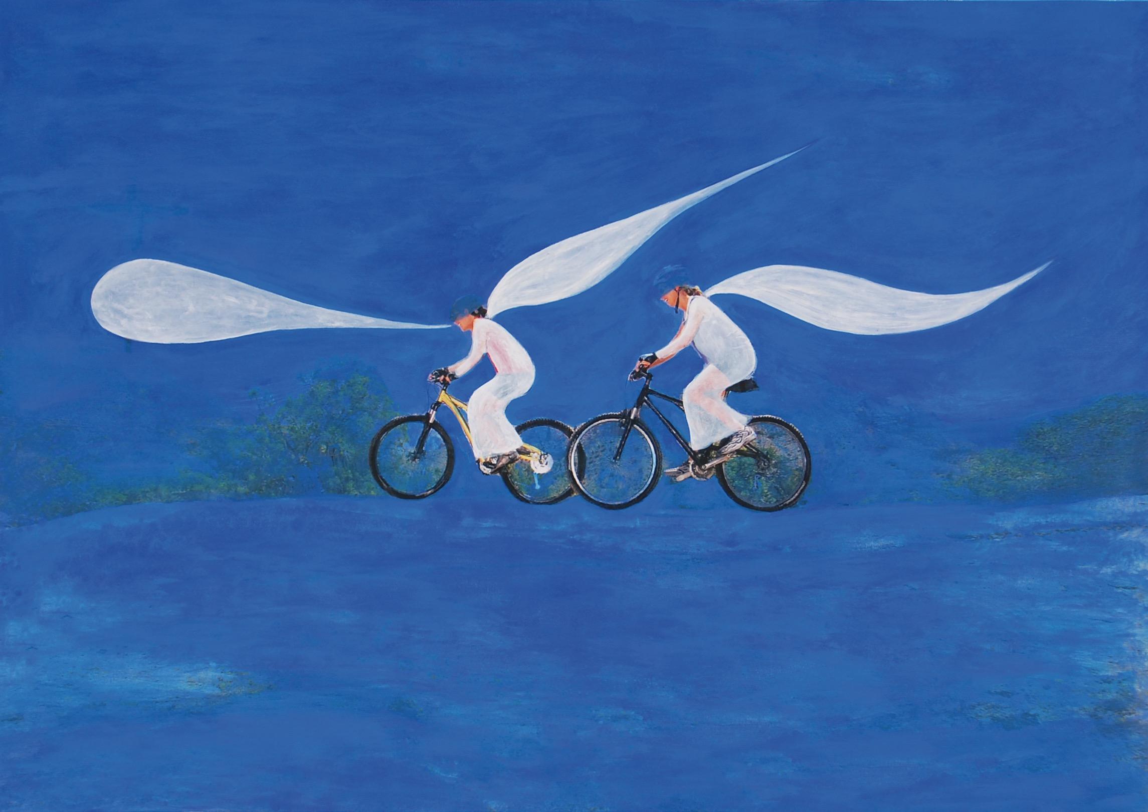 Due angeli annunciano la Parola nel paesaggio stellato