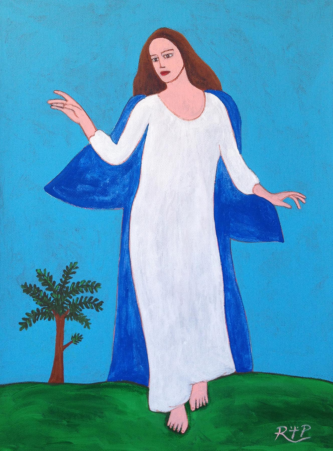 Madonna nel blu